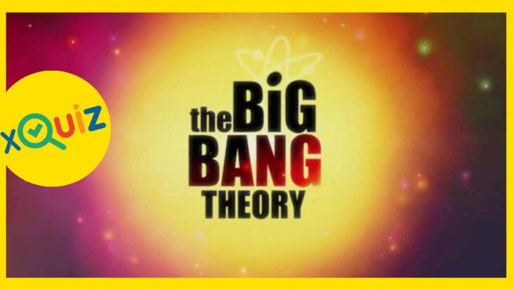 The big bang theroy quiz